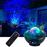 VerkTop Star Projector Night Light, Colorful LED Music Sky Light Projection, Ocean Wave Star Lights for Kids Bedroom/Home Theater, with Bluetooth Speaker and Remote Control