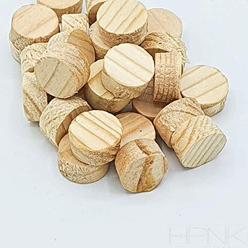 Tapón de pino de grano cruzado, 12 mm, 100 unidades HPNK