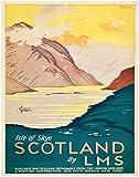 Schottland Reise-Poster Vintage schottisches Reise-Poster