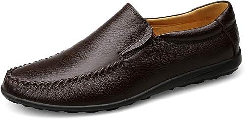 Men Driving Loafers Casual Slip doux et confortable sur une toison d'hiver à l'intérieur de la botte haute (conventionnel en option) ,Chaussures de cricket ( Couleur   Marron , Taille   42 EU )
