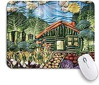 KAPANOU マウスパッド、緑の野菜の国のパターン おしゃれ 耐久性が良い 滑り止めゴム底 ゲーミングなど適用 マウス 用ノートブックコンピュータマウスマット