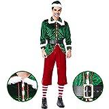 ZLYCZW 6pcs Weihnachten InCharacter Kostüme Herren Santa's Elf Kostüm