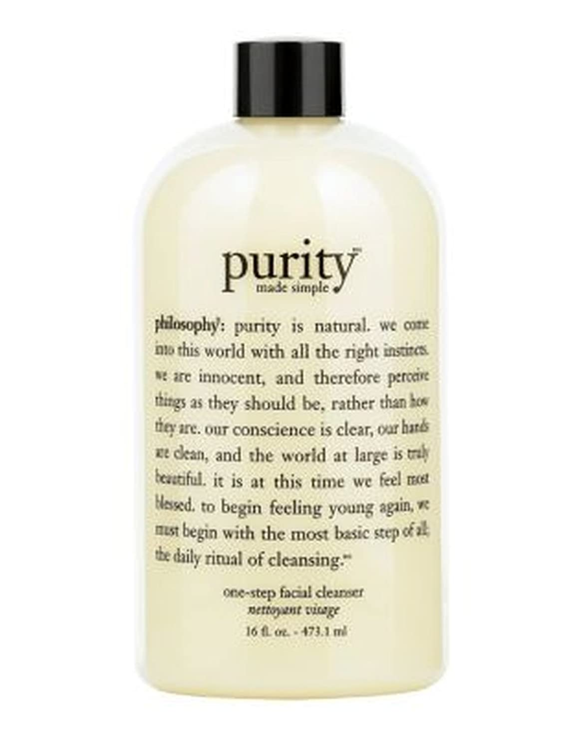 philosophy purity made simple 3-in-1 cleanser for face and eyes 480ml - 哲学純度は、顔や目480ミリリットルのための簡単な3イン1クレンザーを作りました (Philosophy) [並行輸入品]
