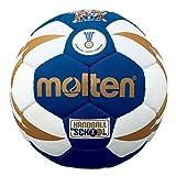 MOLTEN IHF Approved Club/School - Pelota de Balonmano, Color Azul