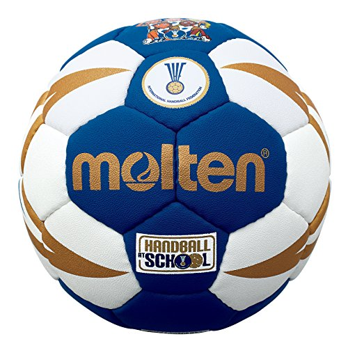 MOLTEN IHF Approved Club/School - Pelota de Balonmano, Color Azul