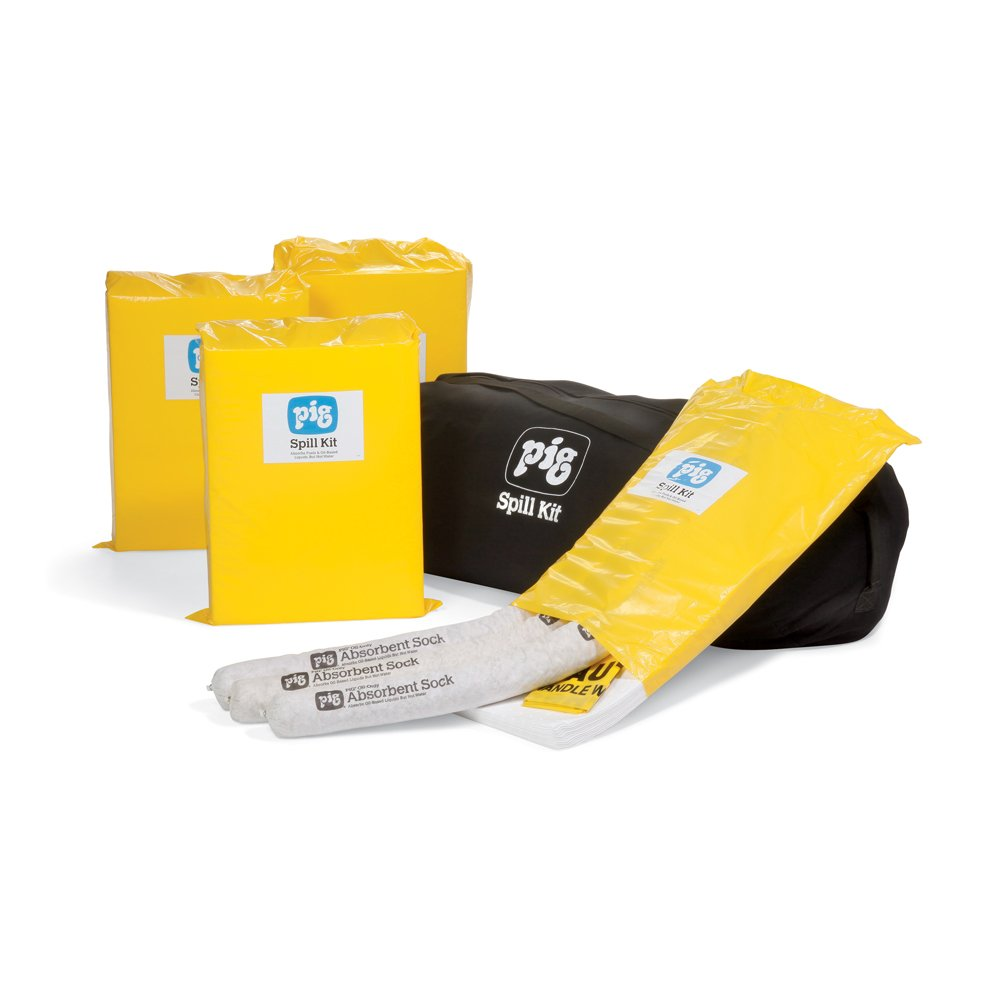 Import National uniform free shipping New Pig Oil-Only Economy Spill Kits Bag Duffel 23-Gal in Absorb