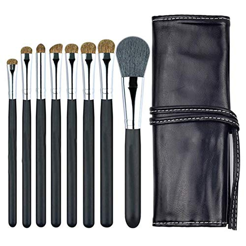 Animal Hair Eye Makeup Set, Eyeshadow Blend Crease Set - Featured 8Essential Makeup Brushes - Pencil, Shader, Cone, Styling - More Durable, Smear for a Better Look, Making You Look Flawless(Black)
