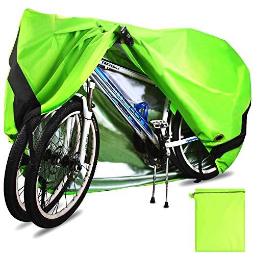 YMYP08 Mountainbike cover, 420D Oxford waterdichte fiets cover stofdichte regendichte UV-bescherming voor alle soorten merken fiets/racefiets met slot gat opbergtas 200 * 70 * 110cm