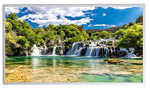 Infraroodverwarming met digitale thermostaat voor stopcontact - 5 jaar fabrieksgarantie - elektrische verwarming met oververhittingsbeveiliging 800W National Park Krka Kroatië Waterval