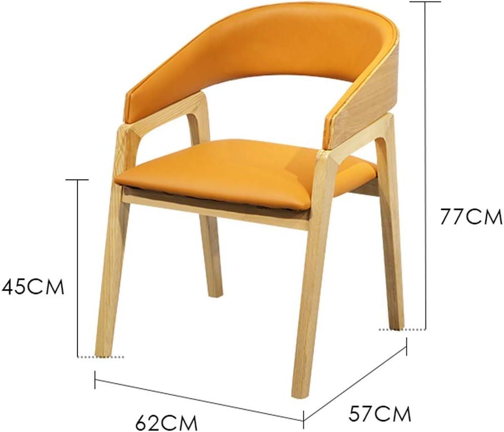 HXF- Chaise de salle à manger, chaise de bureau simple, dossier créatif, chaise de loisirs, chaise de salle à manger pour adulte durable (couleur : vert) Orange
