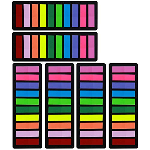 Page Markers Sticky Index Tabs 1200 Pieces, Arrow Flag Tabs Colored Sticky Notes for Page Marker Bookmarks [10 Primary Colors] Sticks Securely, Removes Cleanly