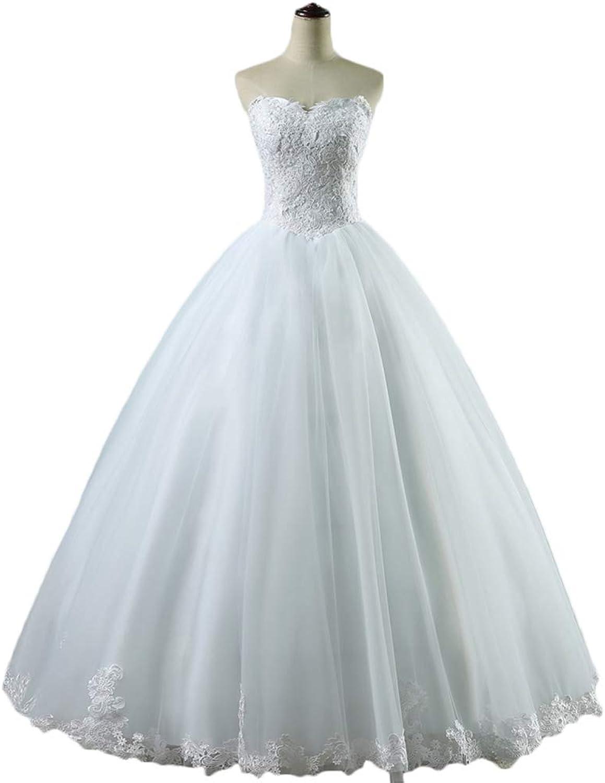 WAWALI Sweetheart Wedding Dress Bridal Dresses Lace Appliques Wedding Gown