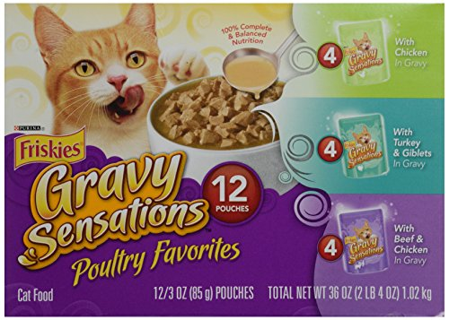 Friskies Poultry Favorites Cat Food, Variety Pack, 12 Pouches, 3 oz each