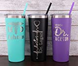 Personalized Doctor Laser Engraved 22 oz Tumbler with Straw, Doctor MD, Doctor Gift for Men