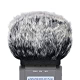 SUNMON Microphone Windscreen Muff for Zoom H4N Pro Portable Digital Recorders - Outdoor Mic Windshield Wind Cover Pop Filter