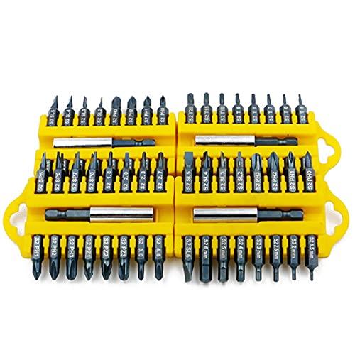 Lixiaonmkop 17 stücke Elektrische Schraubendreher Bit Set Sechskant Magnetische Einfügung Bit Set Torx Flachkopf Kreuz Elektrische Schraubendreher Schrauben (Color : Set C)