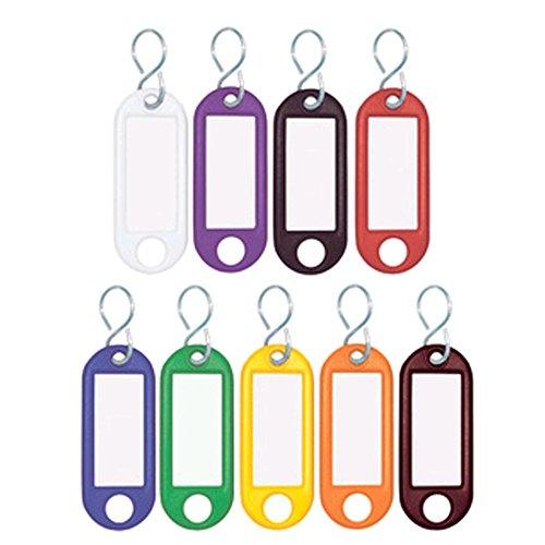 Wedo 262803499 Schlüsselanhänger aus Kunststoff mit S-Haken, auswechselbare Etiketten, 300 Stück, farbig sortiert