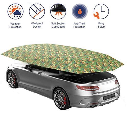 DCSHOP Auto Regenschirm Zelt Sonnenschutz, Tragbar Draußen Autogarage Wasserdicht Auto Abdeckung Auto Markise Schutzdach Sonnendicht Wasserdicht, Schneesicher Winddicht, Unterstände, 4,9 * 2,3m