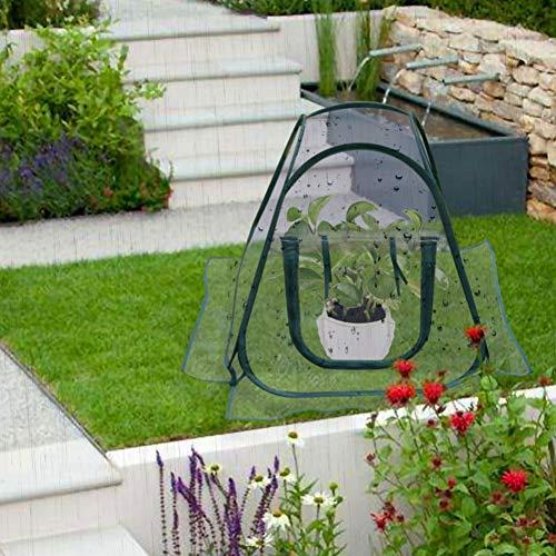 PowerBH Portátil Transparente PVC Planta Toalla Paño de siembra Plegable Toalla de siembra hortícola Tienda de Invernadero a Prueba de Agua