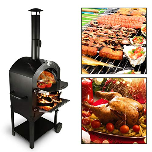 Tengchang Outdoor Pizza Oven Wood Fire DIY Portable Pizza Maker Family Camping Cooker