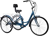 Adult Tricycles, 7 Speed Adult Trikes 20/24/26 inch 3 Wheel Bikes for Adults with Large Basket for Recreation, Shopping, Picnics Exercise Men's Women's Cruiser Bike