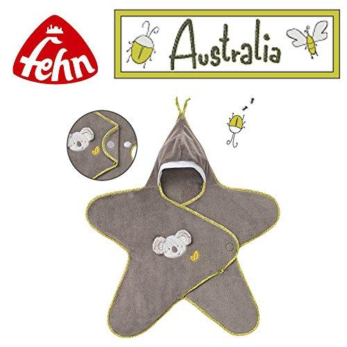 Baby Fehn Einschlagdecke Koala Stern // für Kinderwagen & Babyschale geeignet // Kollektion Australia // 0+