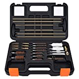 BOOSTEADY Universal Gun Cleaning Kits for All Guns, 22 243 270 30 357 9MM 40 45 12 20 Gauge Cleaning Kit, Rifle Pistol Cleaning Rod in Carrying Case