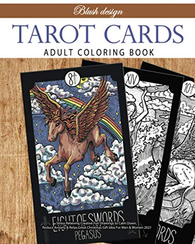 Tarot Cards: Adult Coloring Book (Stress Relieving Creative Fun Drawings