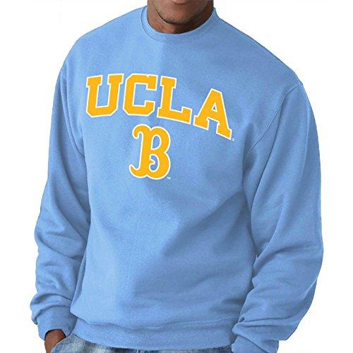 Campus Colors Adult Arch & Logo Gameday Crewneck Sweatshirt (UCLA Bruins - Light Blue, Medium)