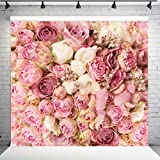 WOLADA Flower Backdrop Spring Floral Backdrops for Photography Wedding Birthday Family Party Photo Backdrop Mother's Day Decoration Baby Shower Banner for Studio Props 9604 8x8ft