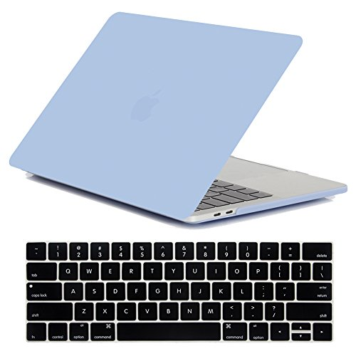 MacBook Pro 13 Inch Case 2020/2019/2018/2017/2016 Model A2338/A2251/A2289/A2159 /A1989/A1706/A1708, iZi Way Lovely Baby Blue Matte Hard Shell Cover for Mac Pro 13 with Retina - Serenity Blue