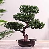 Plantas artificiales Accesorios artificiales Árbol de pino decorativo Bonsai Oficina Festival Simulación Realista DIY Simple Maceta Ornamento de Regalo (Tamaño: 2)