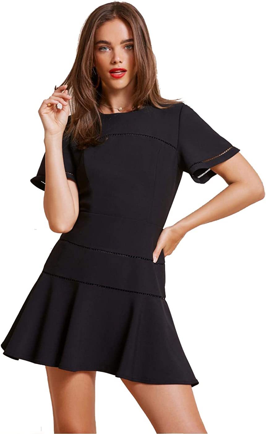 findersKEEPERS Women's Immortal Crew Neck Short Sleeve Fit and Flare Mini Dress