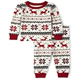 The Children's Place Kids' Christmas Pajama Set, Snow, 4T