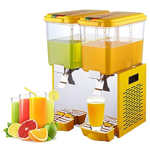 Distributore di bevande commerciali, distributore di bevande calde e fredde serbatoio 18Lx2, distributore di succo di tè freddo in materiale alimentare in acciaio inossidabile, certificato CE