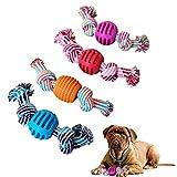 KOMUSII Hundespielzeug Seil,Interaktives Kauspielzeug Spielzeug,Hergestellt aus Natürlicher Baumwolle ungiftig und geruchlos Robust Besser ,Spielzeit - Welpen Zahnen Spielzeug