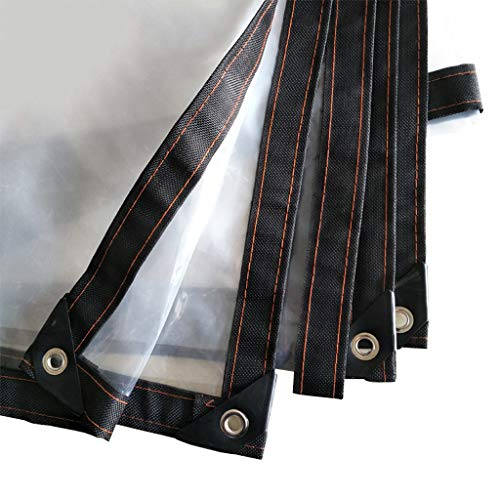 Transparent 120g / m² Plane Draussen Patio Multifunktions-Anlagenabdeckung Plane 100% wasserdicht regendicht Hochleistungs-PE-Kunststoffgewebe Dicke 0,12 mm