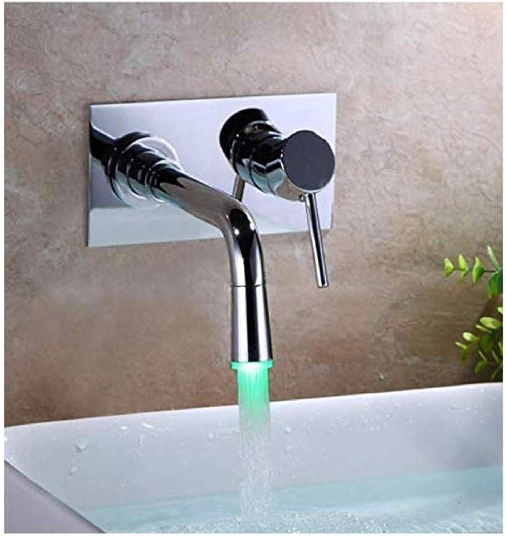 Wasserhahnretro Wasserhahn Warmes Und Kaltes Ganzkupfer Wand-Waschbecken Waschtisch Einhandgriff