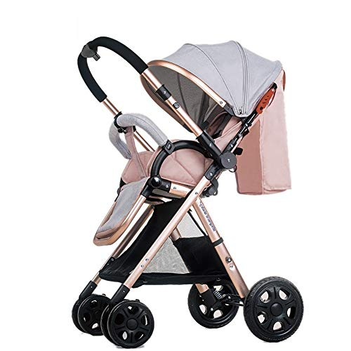 Best Deals! High Landscape Baby Stroller Handle Reversible Infants Buggy Can Sit and Lie DownUltrali...