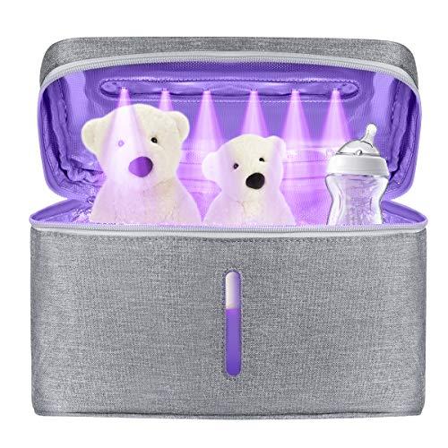 LED UV Sanitizer Bag UV C Cleaner Sterilizer Bag Portable USB Rechargeable LED UV Disinfection Bag for Phone BottleJewelry Tools Kitchenware 99% Cleaned in 5 mins