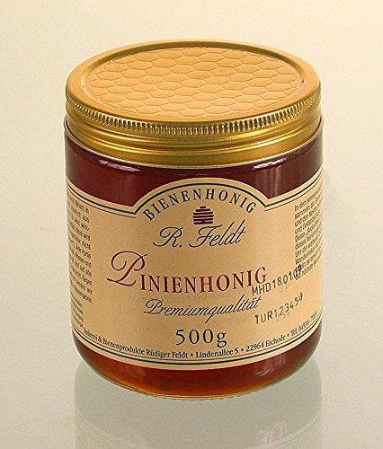Pijnenhoning, egeregen, donkere, mild-kruidige kaak honing met kruidenvegetatie