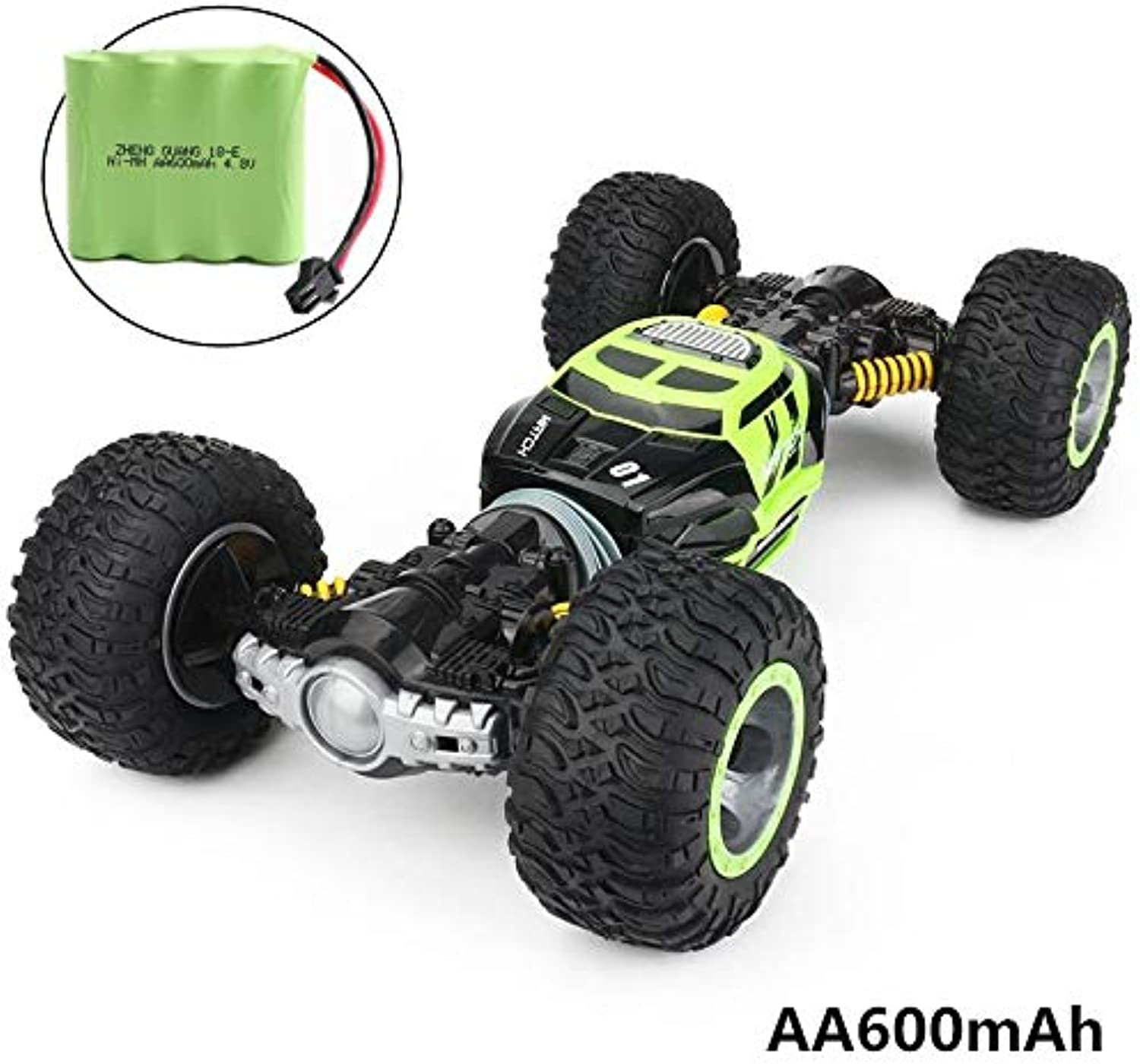 Generic RC Car 4WD Truck Scale DoubleSided 2.4GHz One Key Transformation AllTerrain Vehicle Varanid Climbing Car Remote Control Toys Green 600mAh