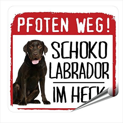 Siviwonder Auto Aufkleber Schoko Labrador Pfoten Weg Hundeaufkleber REFLEKTIEREND Reflective