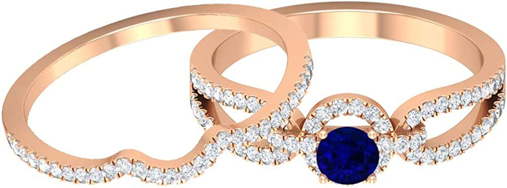 September Birthstone - 4.00 Quality inspection MM HI- Ring Sapphire security Blue Solitaire
