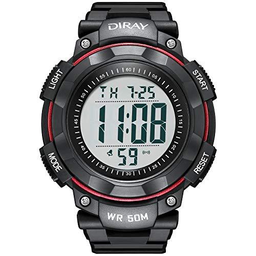 Reloj de pulsera digital para hombre, para hombre, pantalla de retroiluminación LED, impermeable, cronómetro, alarma, informal, luminoso, electrónico, sencillos,, Reloj digital...