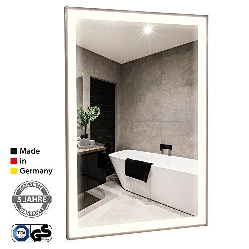 Infrarot Spiegelheizung mit Licht VASNER Zipris S LED mit Chrom-Rahmen 900 Watt Bad Bild 2*