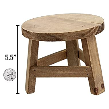 Park Hill 5.5  x 7  Wooden Mini Stool Display Stand