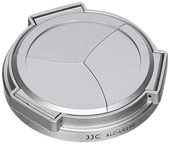 JJC ALC-LX100 Silver Self-Retaining Auto Open Close Lens Cap for Panasonic LUMIX DMC-LX100 and Leica D-LUX Typ 109  Camera Replaces DMW-LFAC1