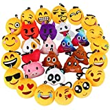 Emotion Keychains Plush, Dreampark Mini Emotion Pillows 30 Pack, Kids Party Favors Carnival