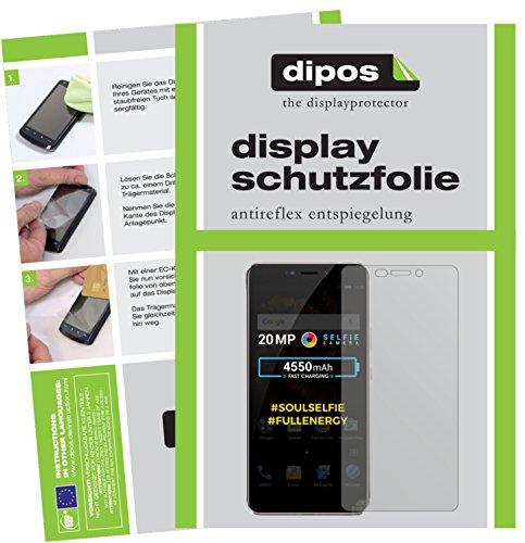 dipos I 2X Schutzfolie matt kompatibel mit Allview X4 Soul Xtreme Folie Bildschirmschutzfolie